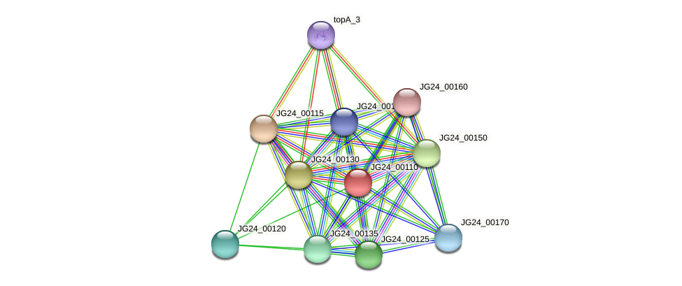 JG24_00110 protein (Klebsiella pneumoniae) - STRING interaction network