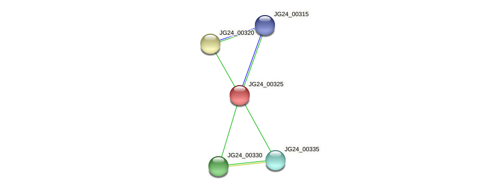 JG24_00325 protein (Klebsiella pneumoniae) - STRING interaction network