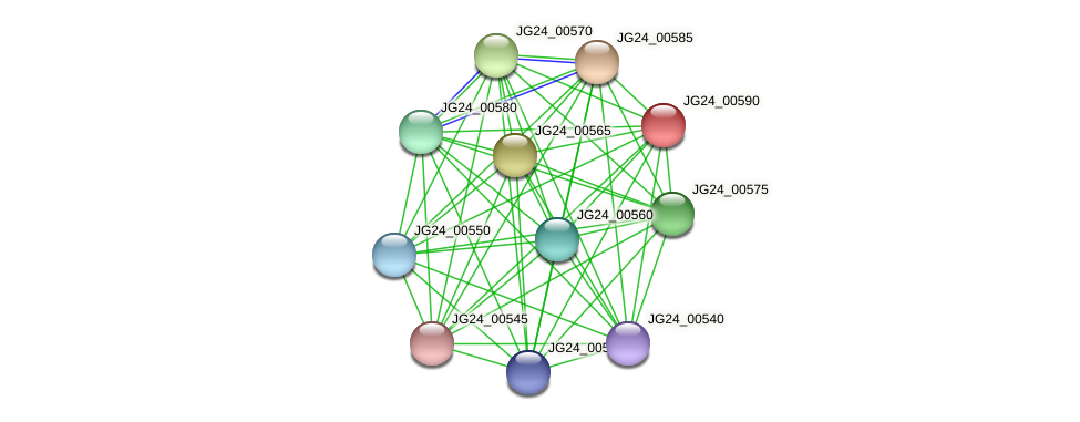 JG24_00590 protein (Klebsiella pneumoniae) - STRING interaction network