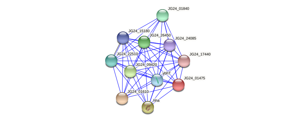 JG24_01475 protein (Klebsiella pneumoniae) - STRING interaction network