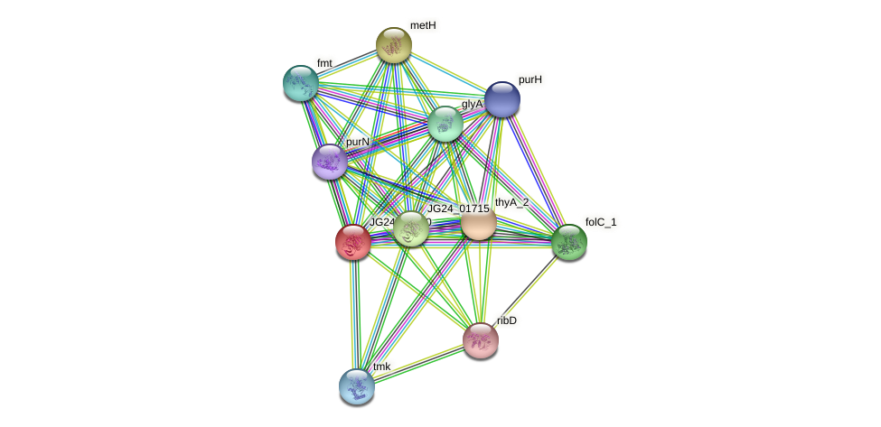 JG24_02140 protein (Klebsiella pneumoniae) - STRING interaction network