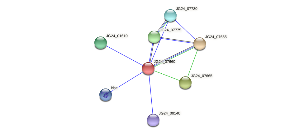 JG24_07660 protein (Klebsiella pneumoniae) - STRING interaction network