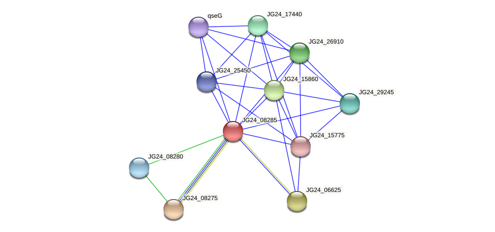 JG24_08285 protein (Klebsiella pneumoniae) - STRING interaction network