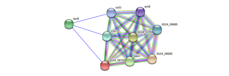 JG24_08700 protein (Klebsiella pneumoniae) - STRING interaction network