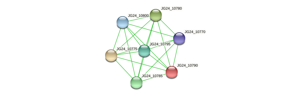 JG24_10790 protein (Klebsiella pneumoniae) - STRING interaction network