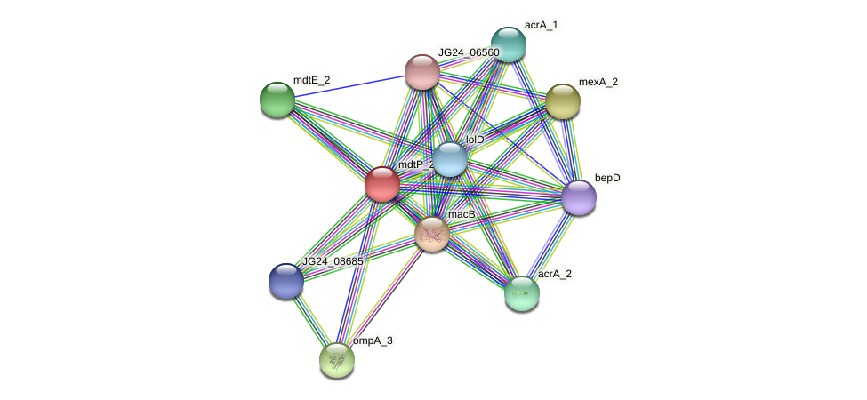 JG24_17210 protein (Klebsiella pneumoniae) - STRING interaction network