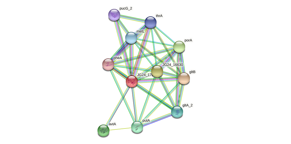 JG24_17865 protein (Klebsiella pneumoniae) - STRING interaction network