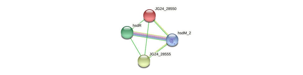JG24_28550 protein (Klebsiella pneumoniae) - STRING interaction network