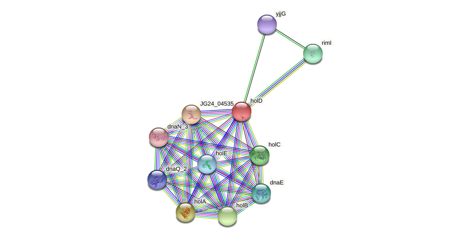 JG24_29270 protein (Klebsiella pneumoniae) - STRING interaction network