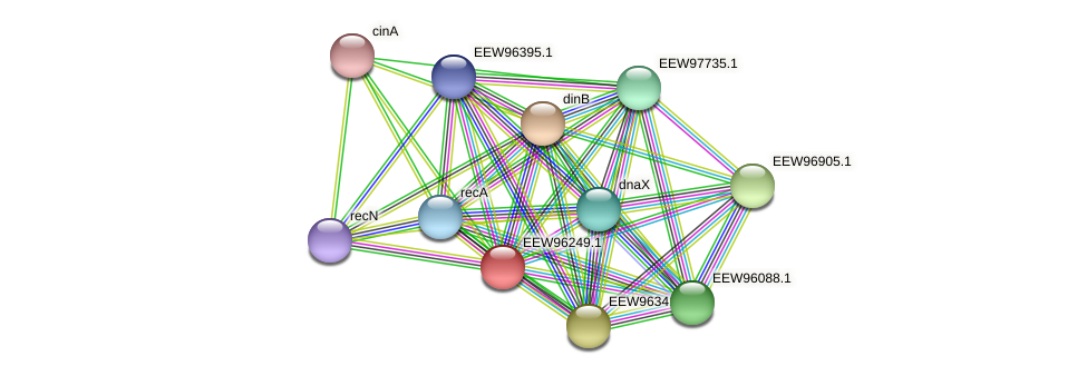 GCWU000321_00188 protein (Dialister invisus) - STRING interaction network