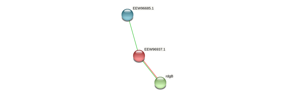 GCWU000321_00914 protein (Dialister invisus) - STRING interaction network
