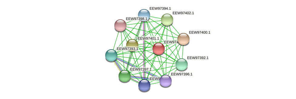 GCWU000321_01396 protein (Dialister invisus) - STRING interaction network