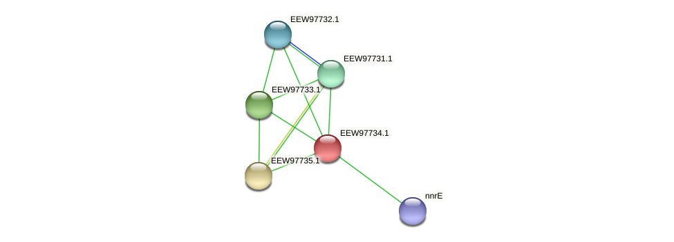 GCWU000321_01730 protein (Dialister invisus) - STRING interaction network