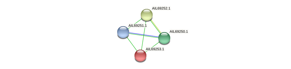 AIL69253.1 protein (Vibrio vulnificus) - STRING interaction network