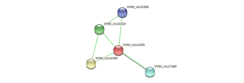 VV1214 protein (Vibrio vulnificus) - STRING interaction network