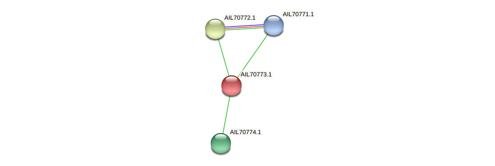 AIL70773.1 protein (Vibrio vulnificus) - STRING interaction network