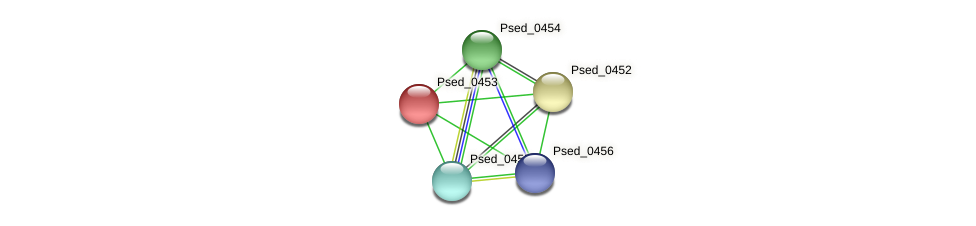 Psed_0453 protein (Pseudonocardia dioxanivorans) - STRING interaction network