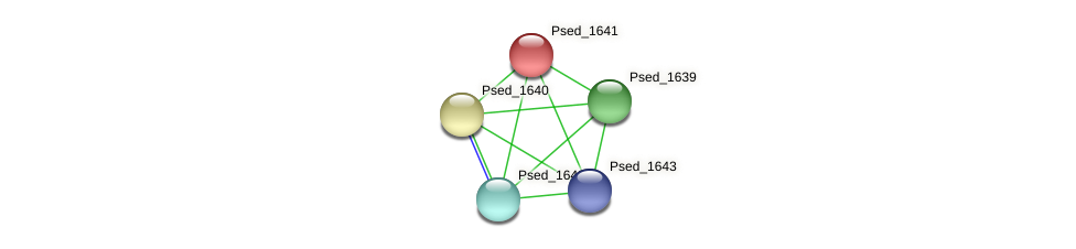 Psed_1641 protein (Pseudonocardia dioxanivorans) - STRING interaction network