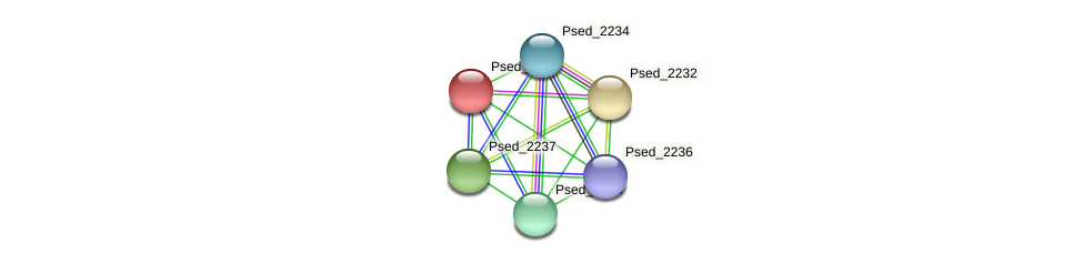 Psed_2233 protein (Pseudonocardia dioxanivorans) - STRING interaction network