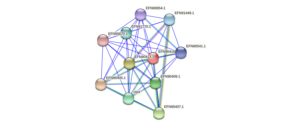 HMPREF9018_0071 protein (Prevotella amnii) - STRING interaction network