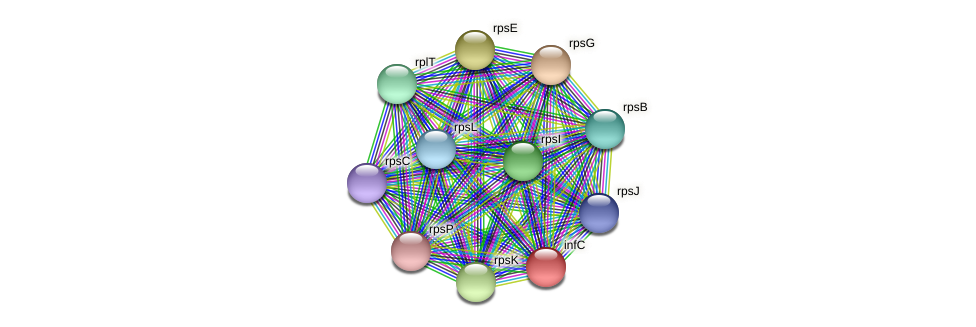 infC protein (Midichloria mitochondrii) - STRING interaction network