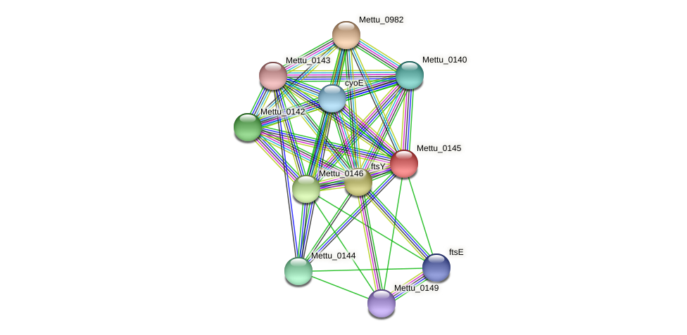 Mettu_0145 protein (Methylobacter tundripaludum) - STRING interaction network