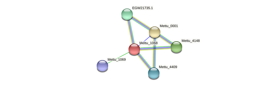 Mettu_1068 protein (Methylobacter tundripaludum) - STRING interaction network