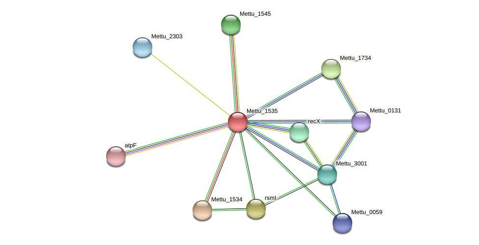 Mettu_1535 protein (Methylobacter tundripaludum) - STRING interaction network