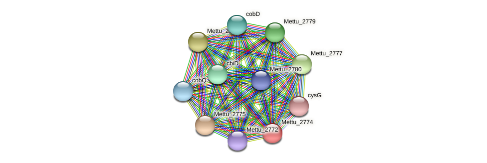 Mettu_2774 protein (Methylobacter tundripaludum) - STRING interaction network