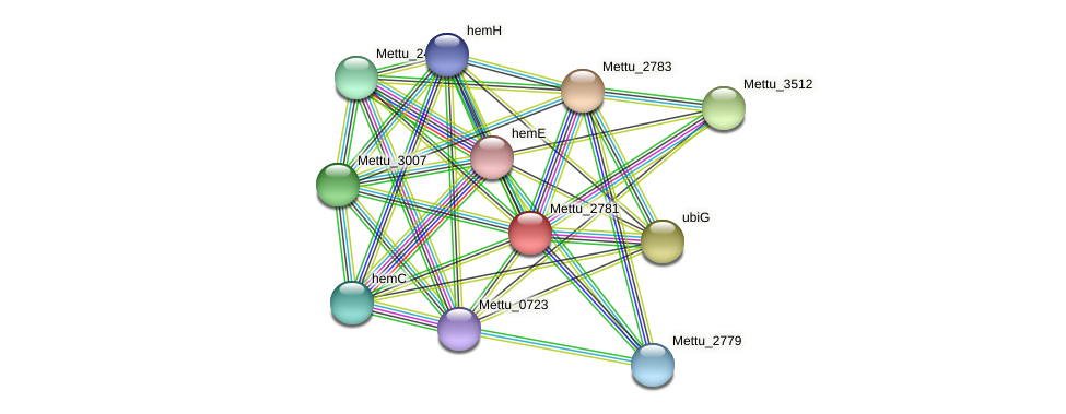 Mettu_2781 protein (Methylobacter tundripaludum) - STRING interaction network