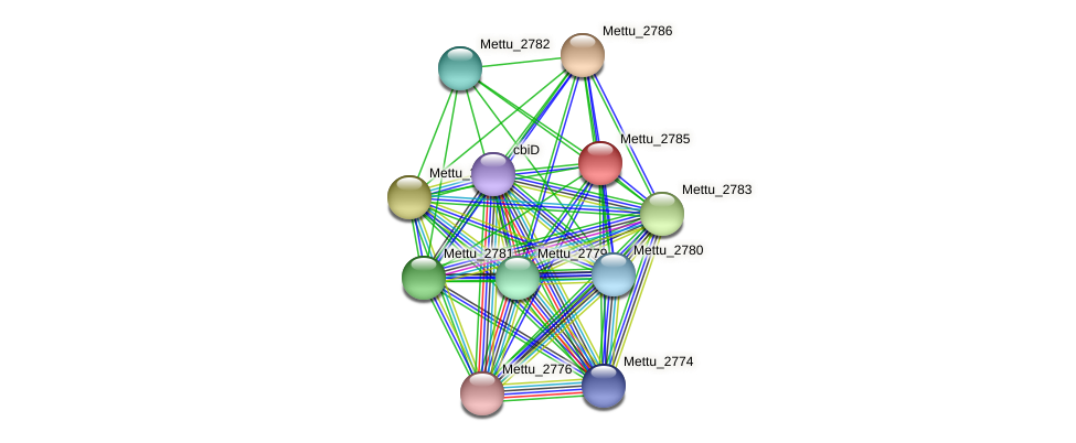 Mettu_2785 protein (Methylobacter tundripaludum) - STRING interaction network
