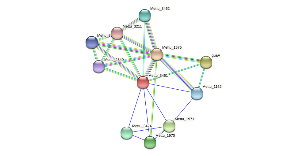 Mettu_3461 protein (Methylobacter tundripaludum) - STRING interaction network