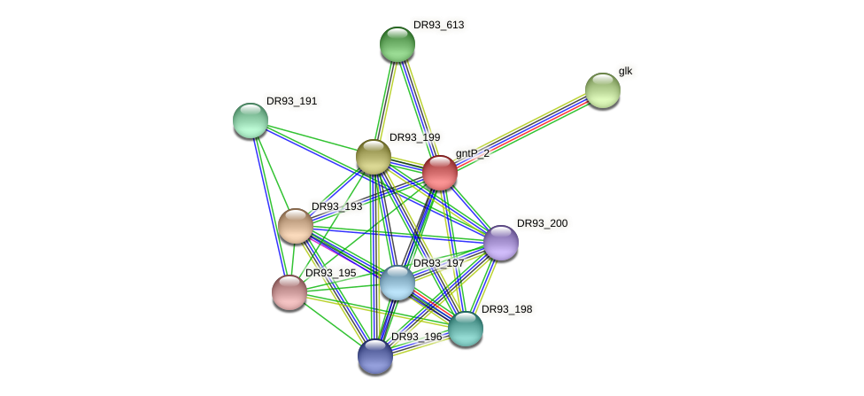 DR93_192 protein (Pasteurella multocida) - STRING interaction network