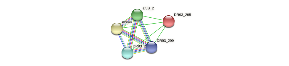 DR93_295 protein (Pasteurella multocida) - STRING interaction network