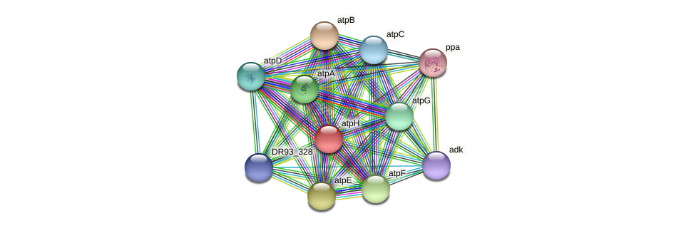 atpH protein (Pasteurella multocida) - STRING interaction network