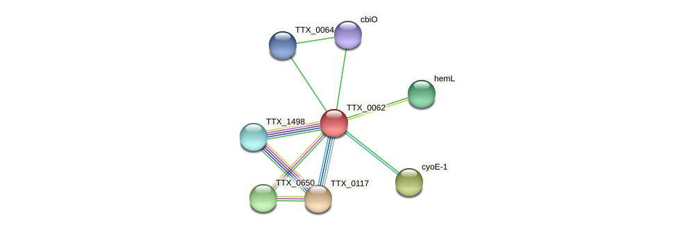 TTX_0062 protein (Thermoproteus tenax) - STRING interaction network