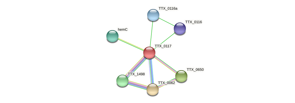 TTX_0117 protein (Thermoproteus tenax) - STRING interaction network