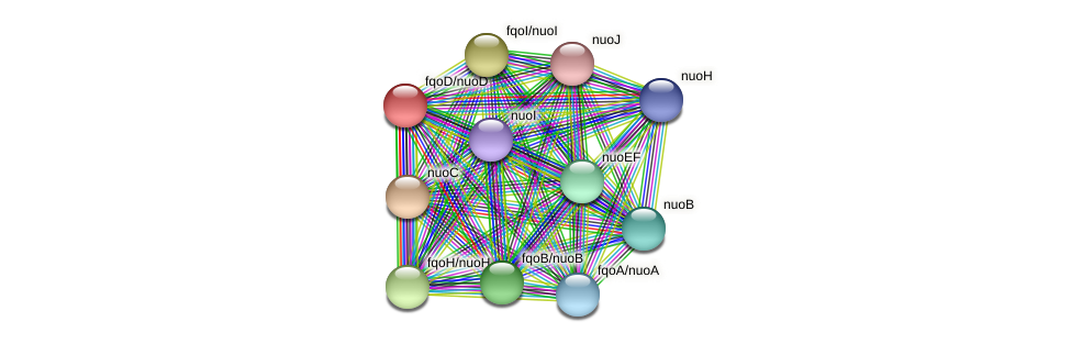 fqoD protein (Thermoproteus tenax) - STRING interaction network