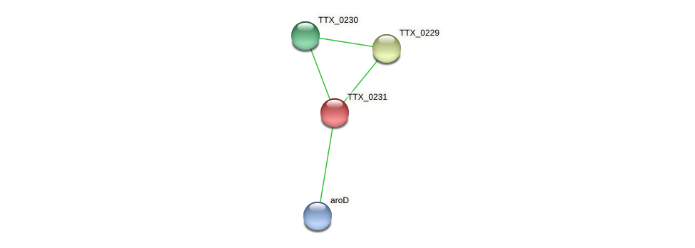 TTX_0231 protein (Thermoproteus tenax) - STRING interaction network