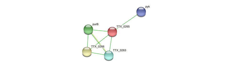 TTX_0265 protein (Thermoproteus tenax) - STRING interaction network