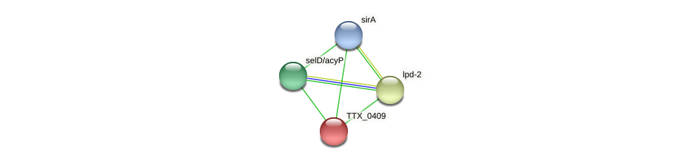 TTX_0409 protein (Thermoproteus tenax) - STRING interaction network