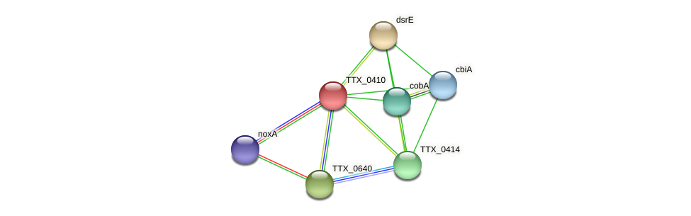 TTX_0410 protein (Thermoproteus tenax) - STRING interaction network