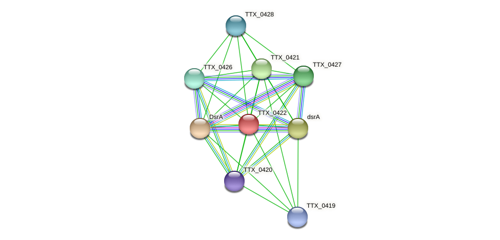 TTX_0422 protein (Thermoproteus tenax) - STRING interaction network