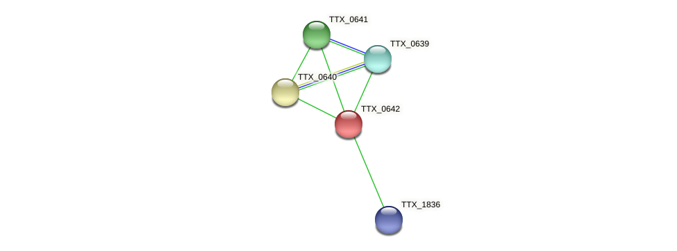 TTX_0642 protein (Thermoproteus tenax) - STRING interaction network