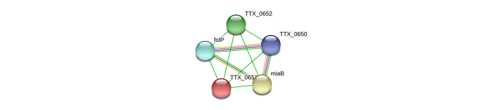 TTX_0653 protein (Thermoproteus tenax) - STRING interaction network