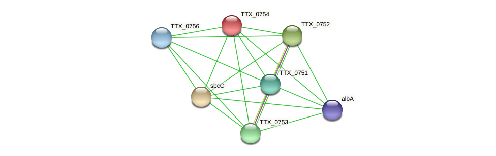 TTX_0754 protein (Thermoproteus tenax) - STRING interaction network