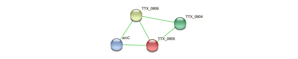 TTX_0805 protein (Thermoproteus tenax) - STRING interaction network