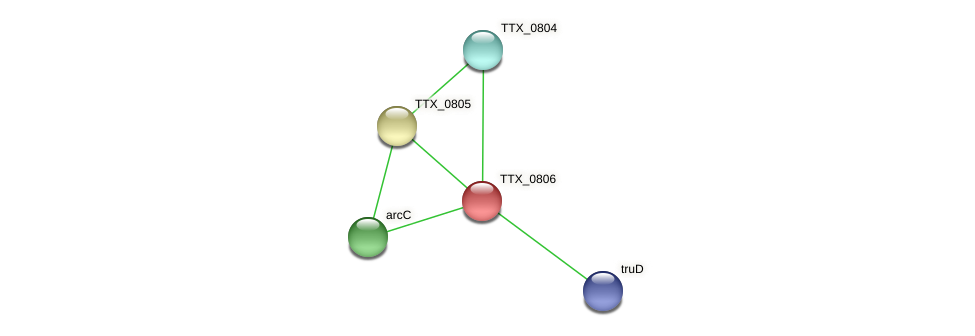 TTX_0806 protein (Thermoproteus tenax) - STRING interaction network