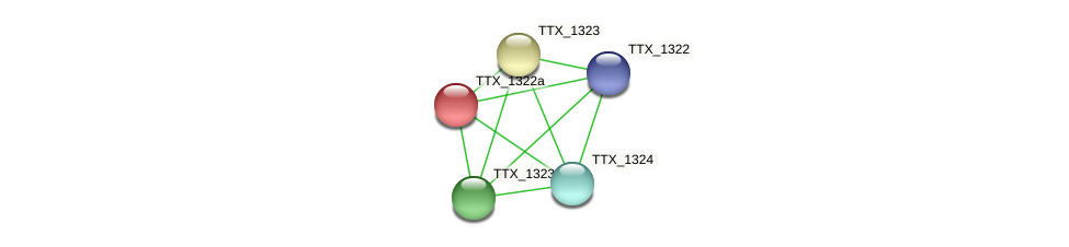 TTX_1322a protein (Thermoproteus tenax) - STRING interaction network