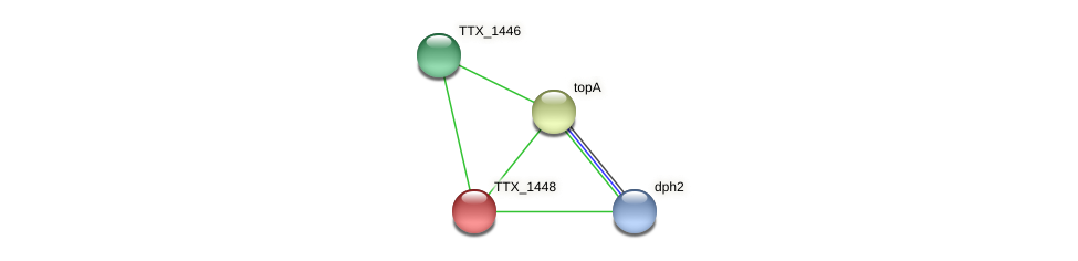 TTX_1448 protein (Thermoproteus tenax) - STRING interaction network